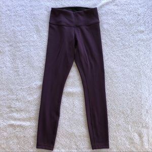 Lululemon Wunder Under Purple Leggings
